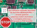 Uwaga na zgodność polaryzacji gniazda i akumulatora!!!